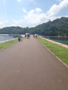 The causeway going to Lazarus Island.We had to walk a good distance to reach the beach.