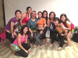 With my classmates and our instructor Elaine.
